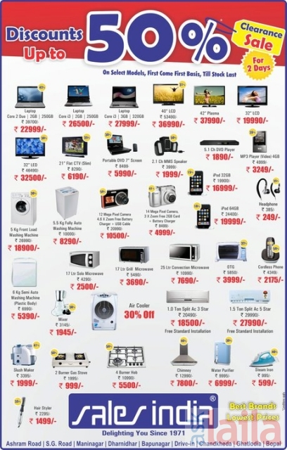 Sales India In Bapunagar Ahmedabad 11 People Reviewed