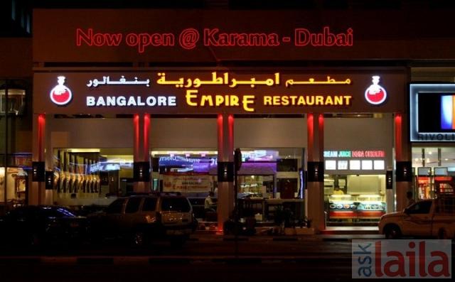 Empire Restaurant Bangalore Menu